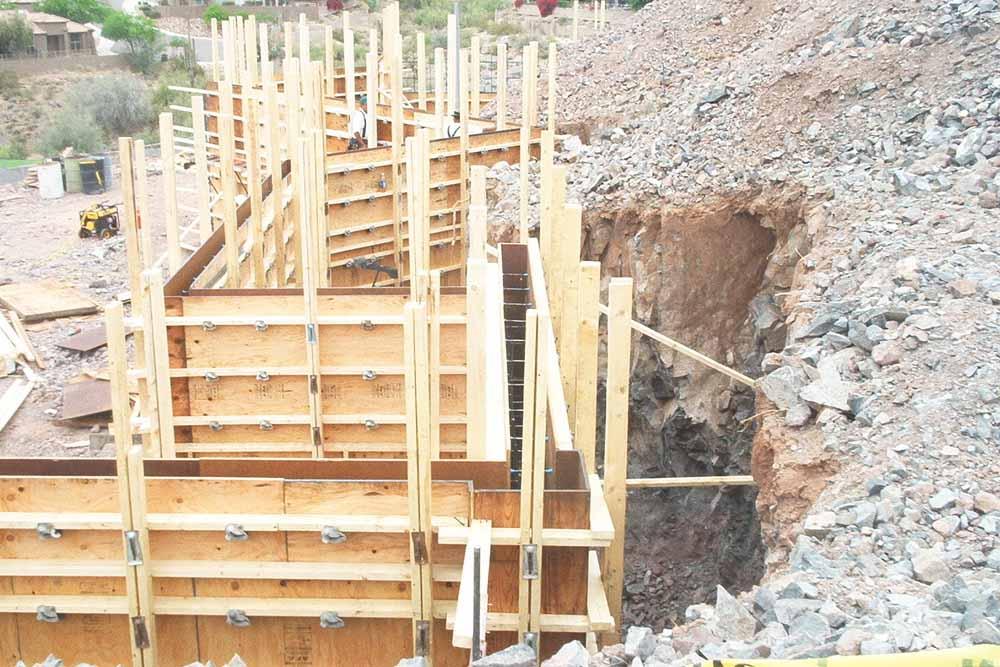 Basement Retaining Wall Concrete Contractor Phoenix Arizona